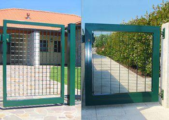 Puertas metalicas para jardin