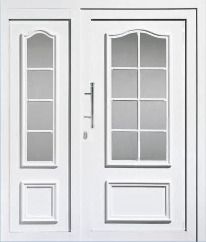 puerta de entrada abatible de aluminio con ventana lateral fija k haas hoco italia