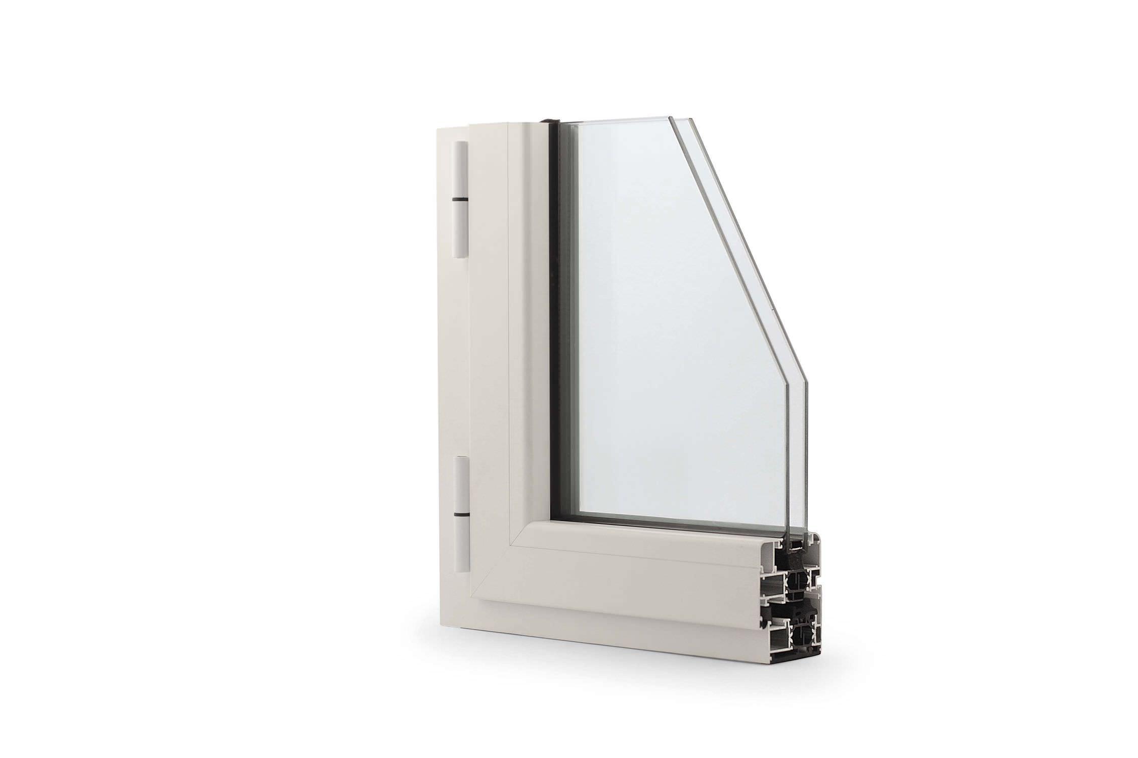 Ventana abatible / de aluminio / con vidrio doble / con aislamiento ...