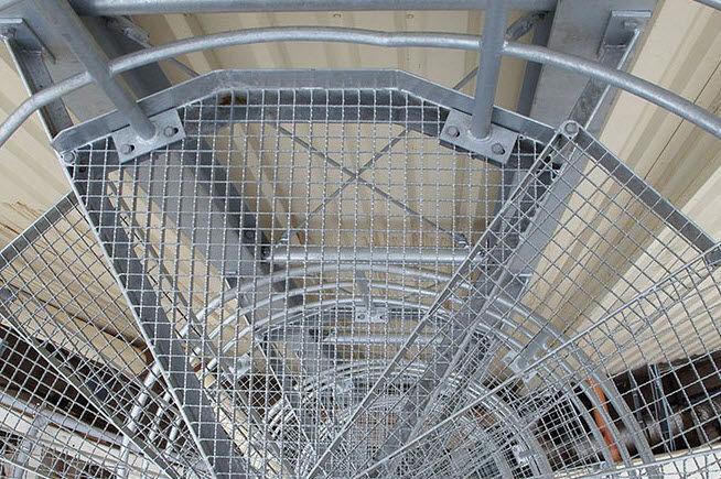 Escalera de caracol / escalón de metal / estructura de metal / sin ...