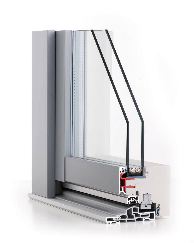 Ventana Basculante De Madera De Aluminio Con Vidrio Doble