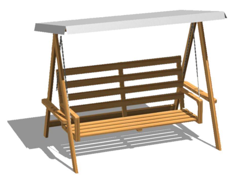 balancn de jardn de madera autoportante 072117 - Balancin De Jardin