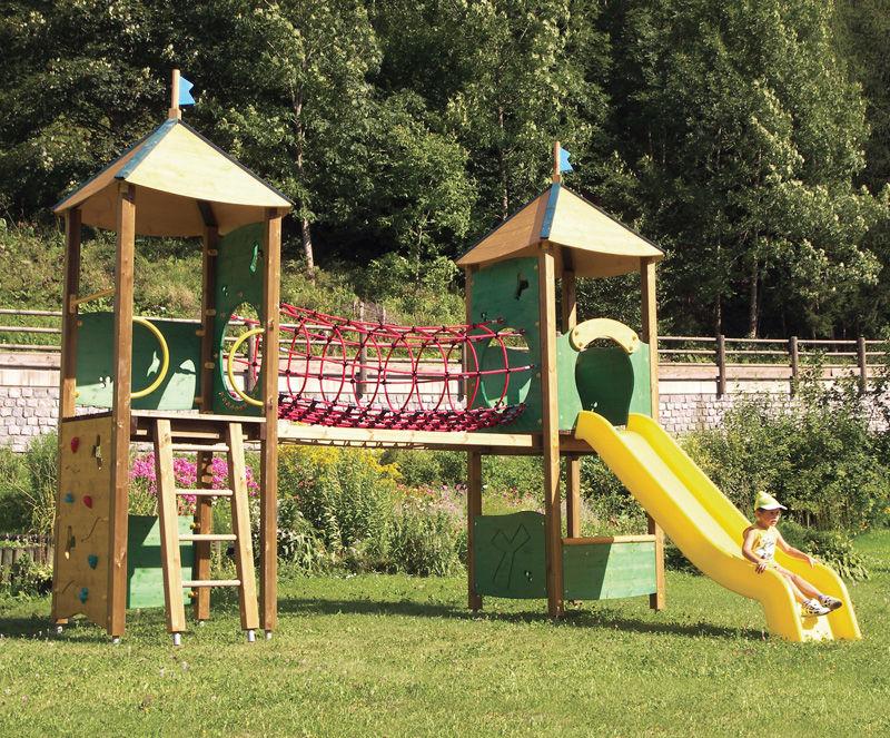 estacin de juego de madera para parque infantil modulable