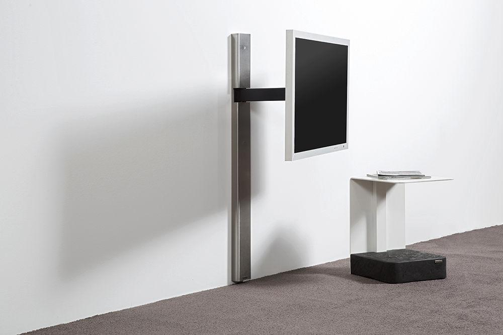 soporte para tv de pared de diseo minimalista giratorio tv wandhalter art wissmann raumobjekte