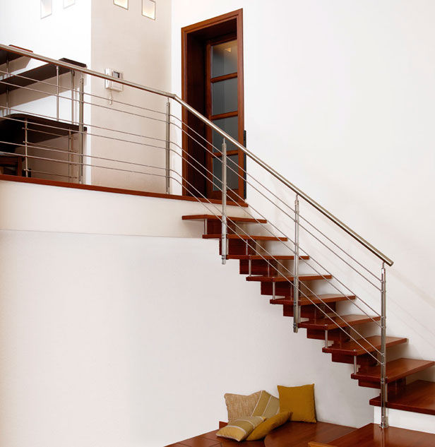 escalera en l con peldaos de madera estructura de madera sin excellence