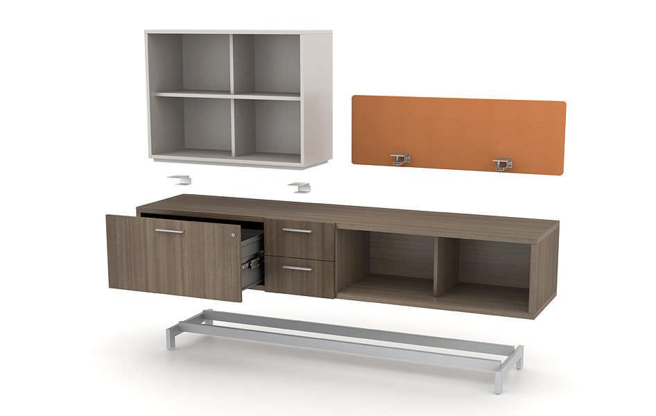 Credenzas Modernas Para Oficina : Biblioteca moderna para oficina de madera zo™ watson desking