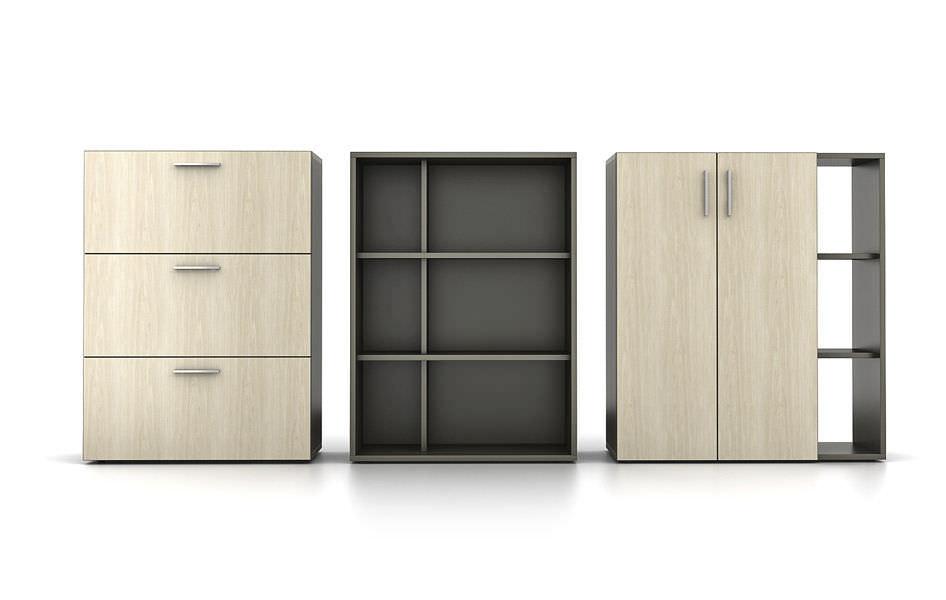 Credenzas Modernas Para Oficina : Armario de oficina bajo madera moderno zo™ watson desking