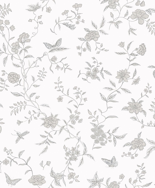 Papel pintado tradicional / de flores / sin tejer / impreso - STOLA ...