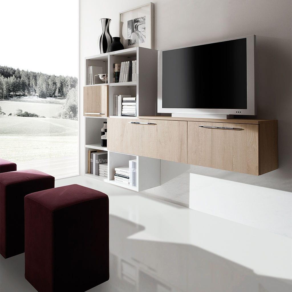 Mueble Tv Moderno De Melamina Erika Aran Cucine # Muebles Para Bijou