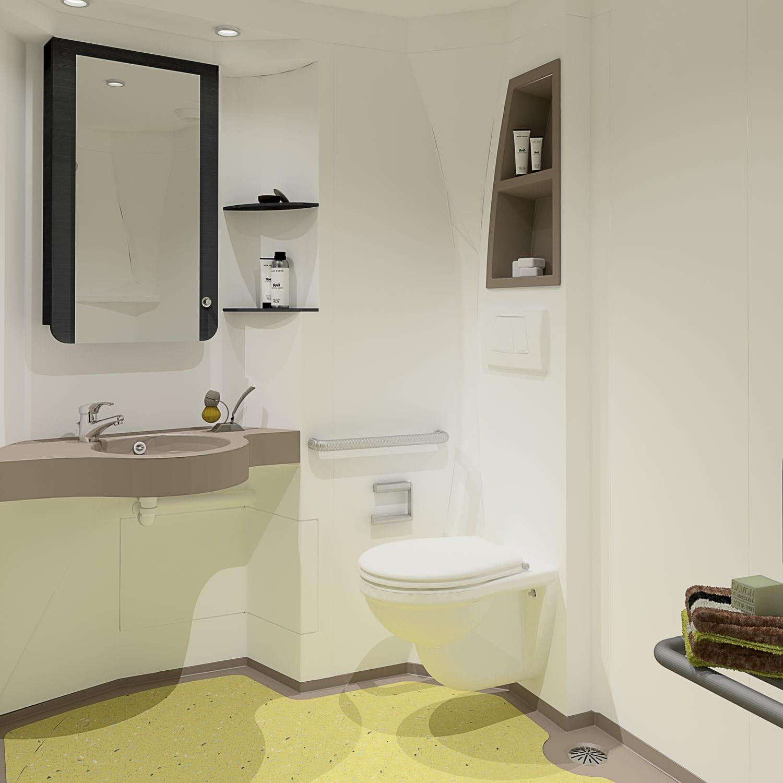 baño moderno   de material compuesto   para el sector servicios   para  discapacitados - ORPHEON 2 ad6372eedad9