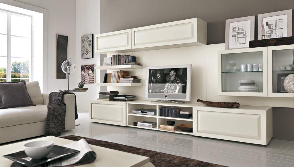Mueble tv moderno / de madera lacada   composizione 2 vintage ...