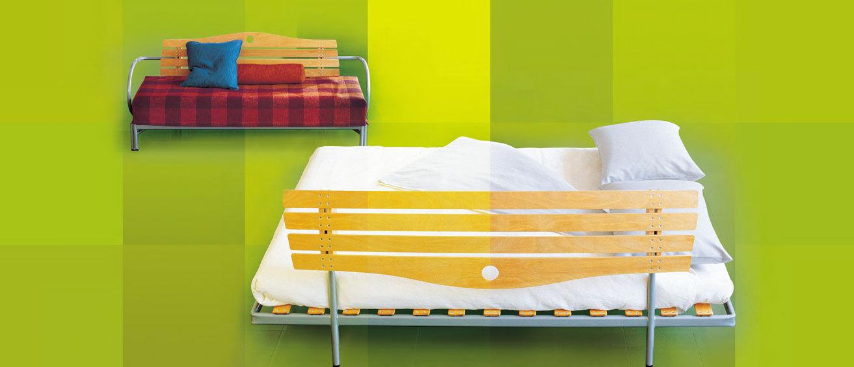 Sofá cama / moderno / doble / con reposabrazos - PARK by Lucci ...