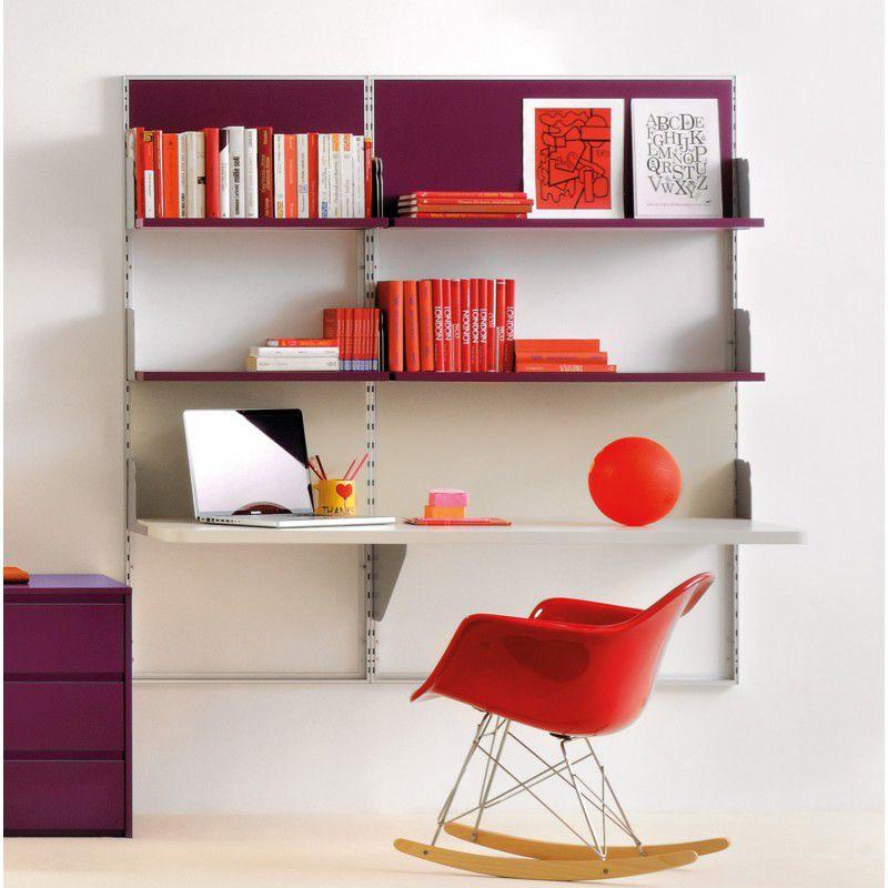 simple escritorio de aluminio moderno con estantes para nios virtual clever with estantes modernos - Estanterias Para Nios
