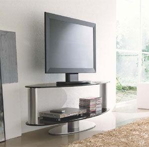 mueble de televisin moderno giratorio de vidrio zen compar