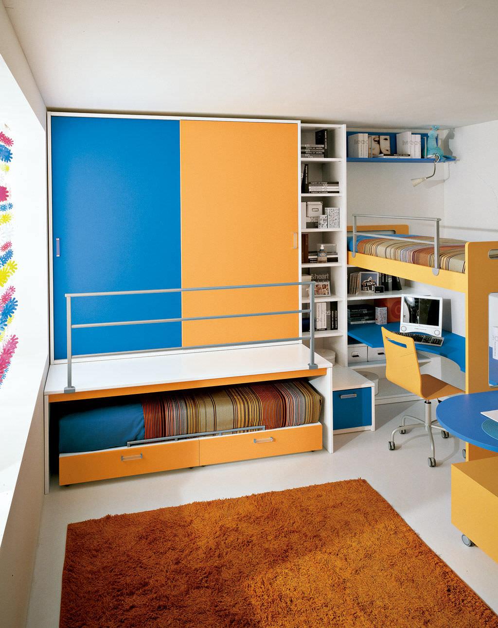 Habitación para niños azul / unisex - S.3 - Faer Ambienti