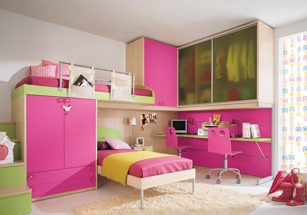 Habitación para niños rosa / para niña - P.8 - Faer Ambienti