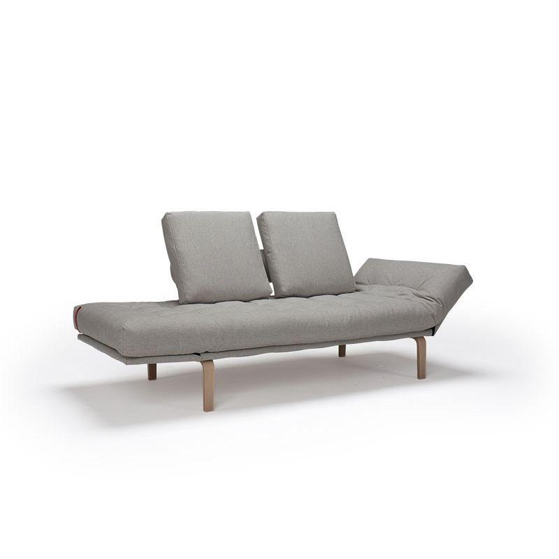Sofá cama / moderno / de acero / 2 plazas - ROLLO by Per Weiss ...