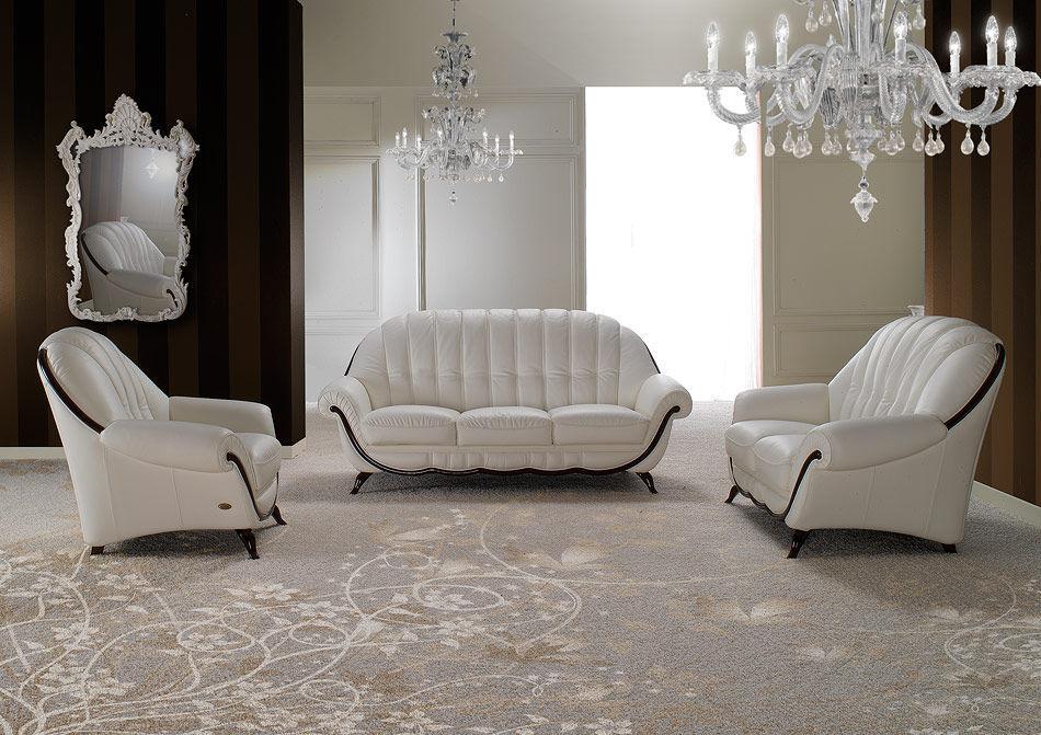Sofá clásico / de cuero / de madera / de tejido - POMPEI - Nieri