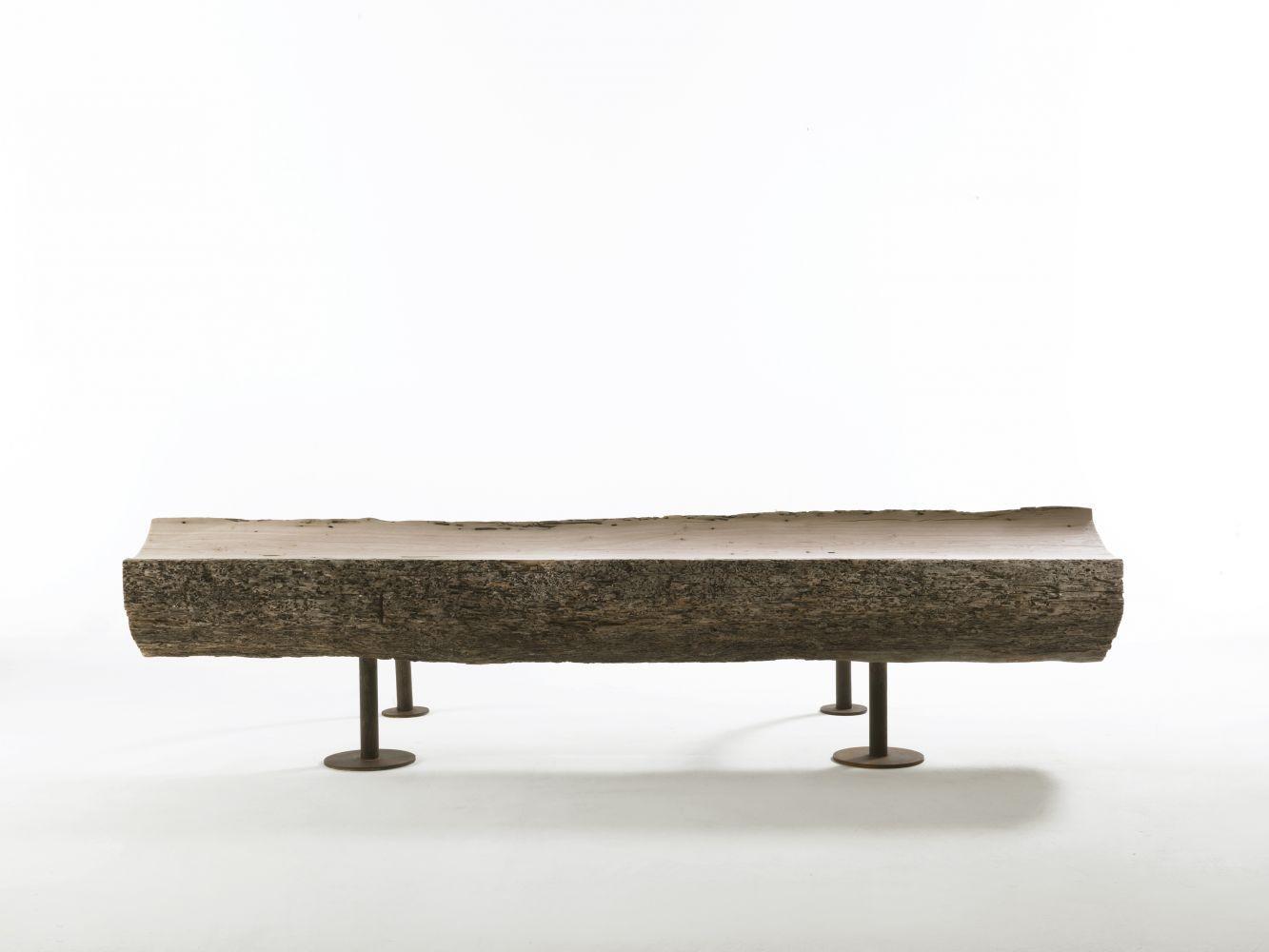 Banco de diseño original / de madera / de metal - DIVAN by Ricardo ...