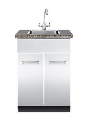 Mueble para fregadero de acero inoxidable / para jardín - VSBO : 24 ...