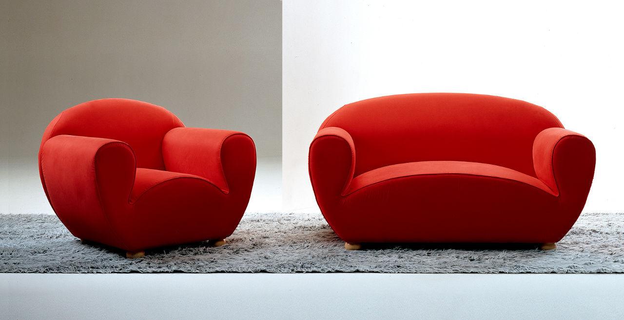 sof de diseo original de tela plazas rojo luagostina by