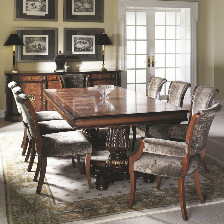 Mesa de comedor de estilo / de madera / rectangular / redonda - DALI ...