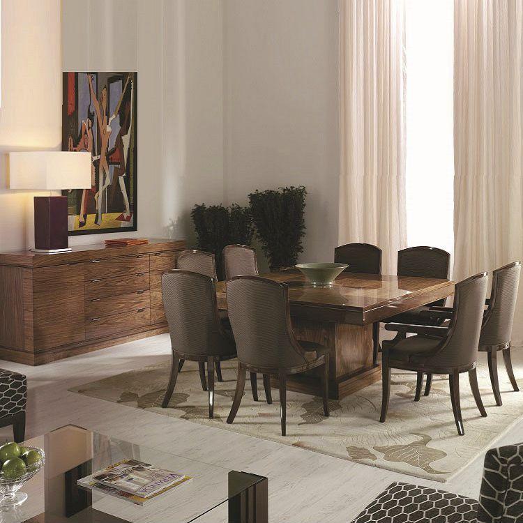 Mesa de comedor moderna / de madera / cuadrada / extensible - Q7 ...
