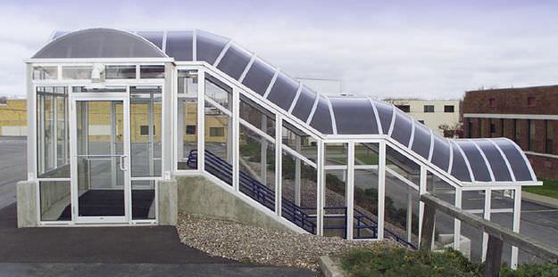 marquesina para escalera exterior de de aluminio duogard