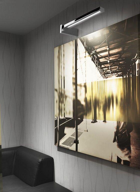 Aplique Para Cuadros Moderno De Laton Led Lineal Clau A 54 - Iluminacion-led-para-cuadros