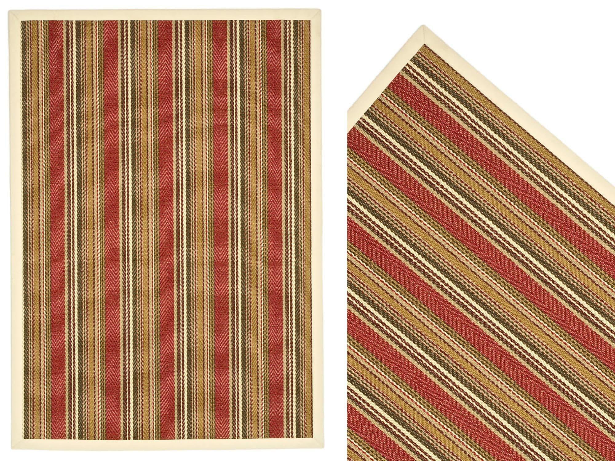 alfombra moderna de rayas de sisal rectangular mahon naturtex