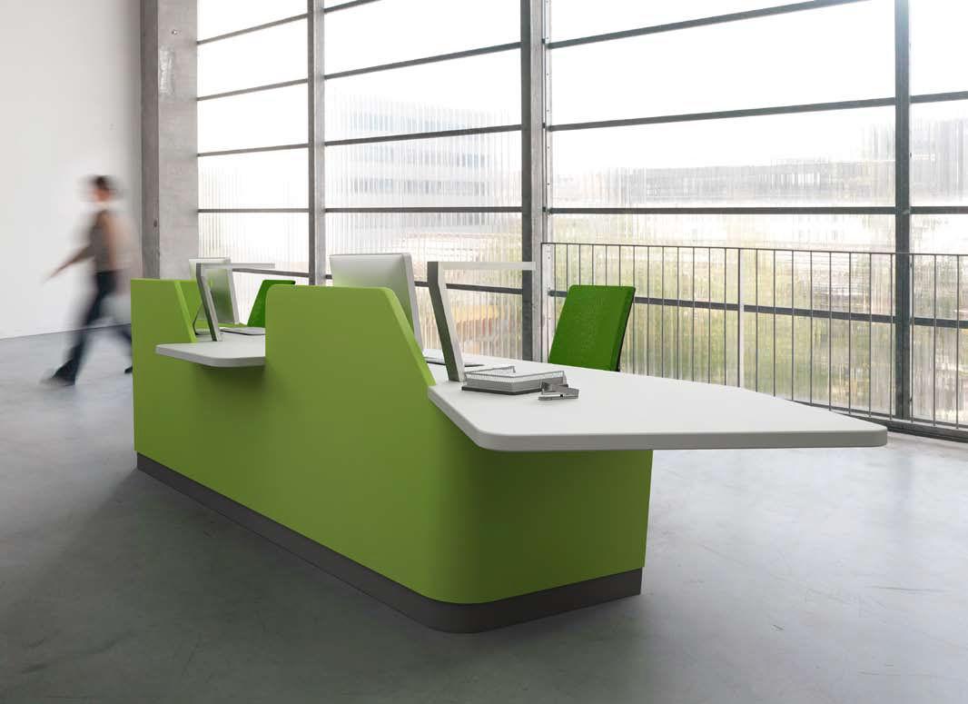 Mostrador de recepción modular / de Corian® / para hotel - MUNDI by ...