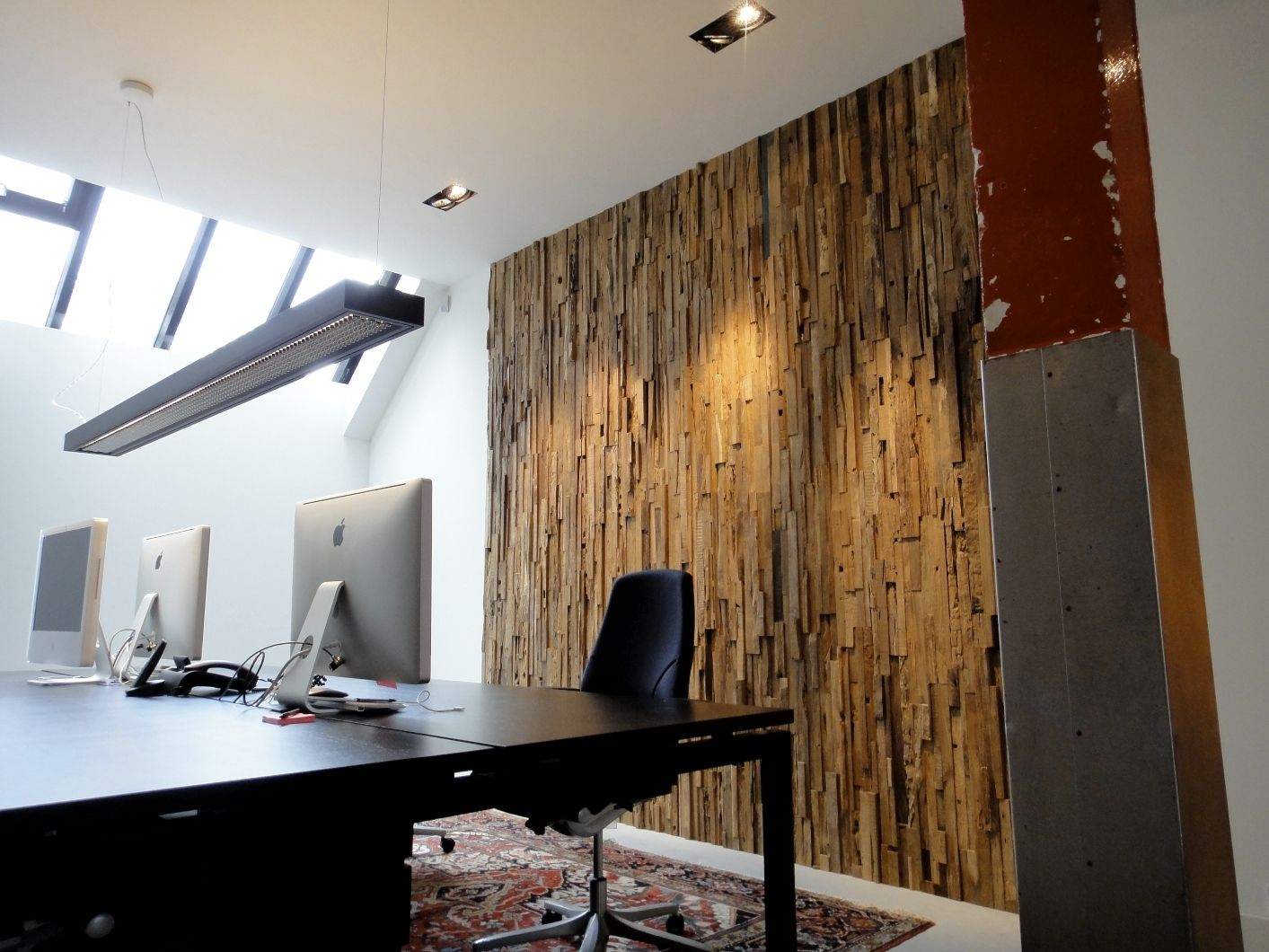panel decorativo de madera de pared liso interior wall covering