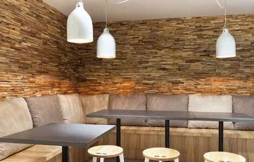 panel decorativo de madera de madera maciza para interior mc mahogany mango