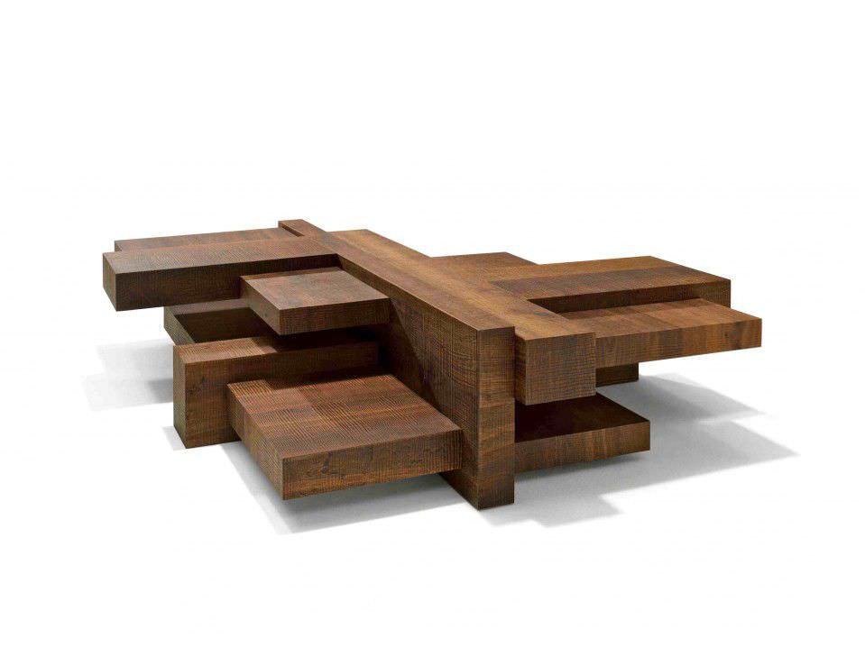 Mesa de centro / de diseño original / de madera / de interior ...
