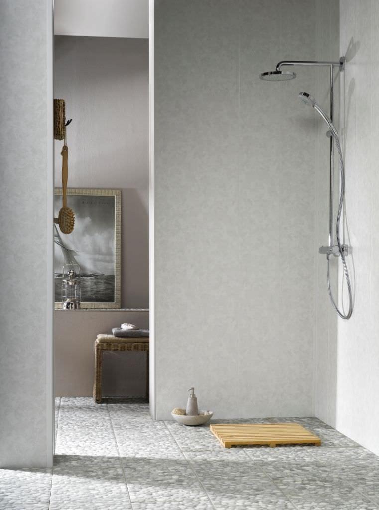 panel decorativo de pvc de material laminado de pared dumapan ulliano grey