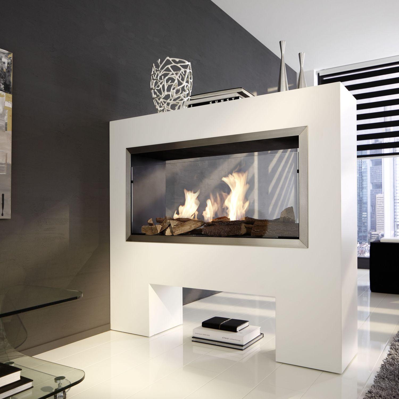 Bioetanol Kamin chimenea de bioetanol moderna hogar abierto de doble cara