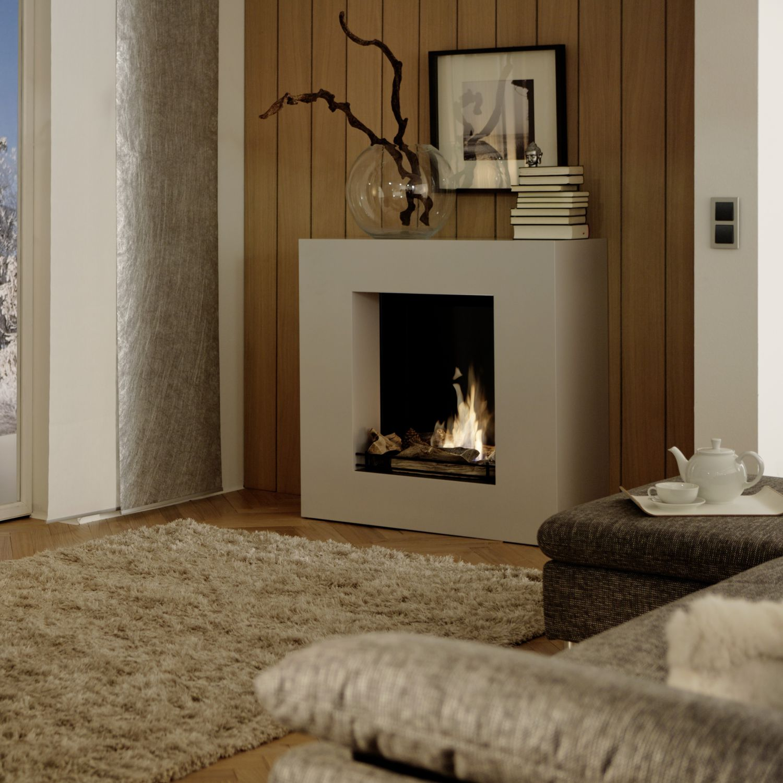 Bioetanol Kamin chimenea de bioetanol moderna hogar abierto central