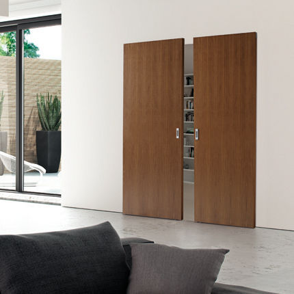puerta de interior corredera de madera doble sistemi speciali scorrevole look fioravazzi