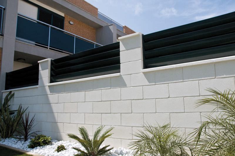 bloque de hormign hueco para muro de contencin superficial monte