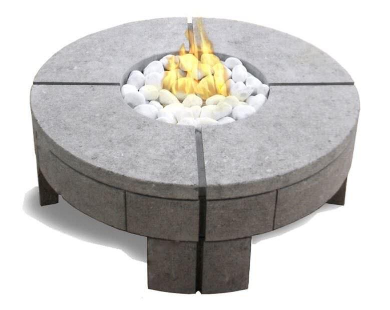 mesa de centro moderna de piedra redonda para jardn by stephane gruffaz