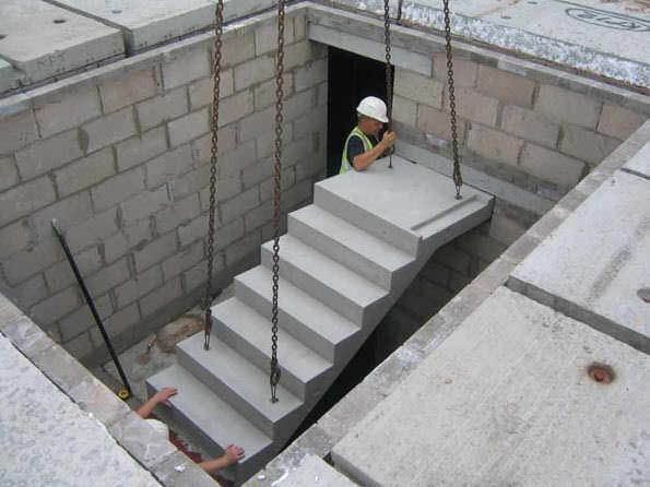 escalera recta con peldaos de hormign estructura de hormign con thomas armstrong