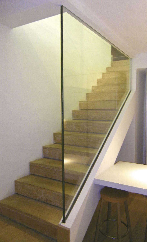Barandilla De Vidrio Con Paneles De Vidrio De Interior De  ~ Barandillas De Cristal Para Escaleras Interiores