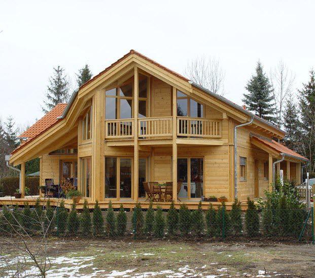 Casa Prefabricada Moderna De Madera Maciza De 2 Plantas