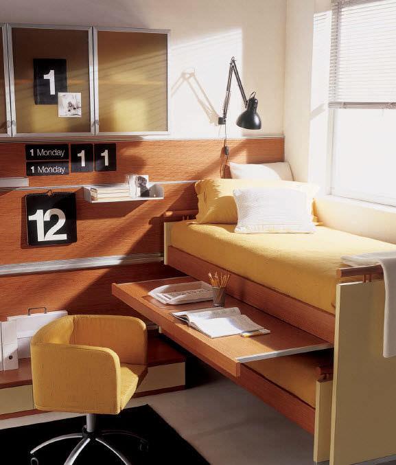 Escritorio de chapa de madera / moderno / con cama nido / para ...
