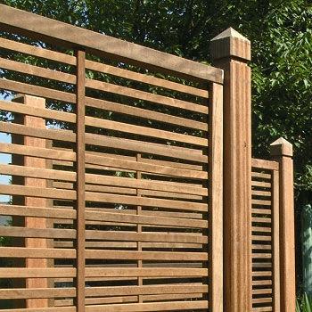 valla de jardn de madera isaura