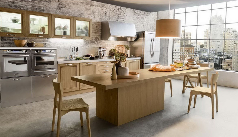 Cocina clásica / de acero inoxidable / de madera / con isla - TIME ...