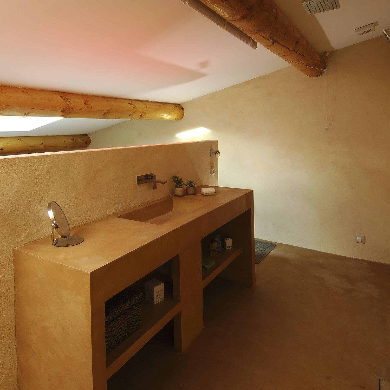 enlucido decorativo de interior para muro a base de cemento sol mur