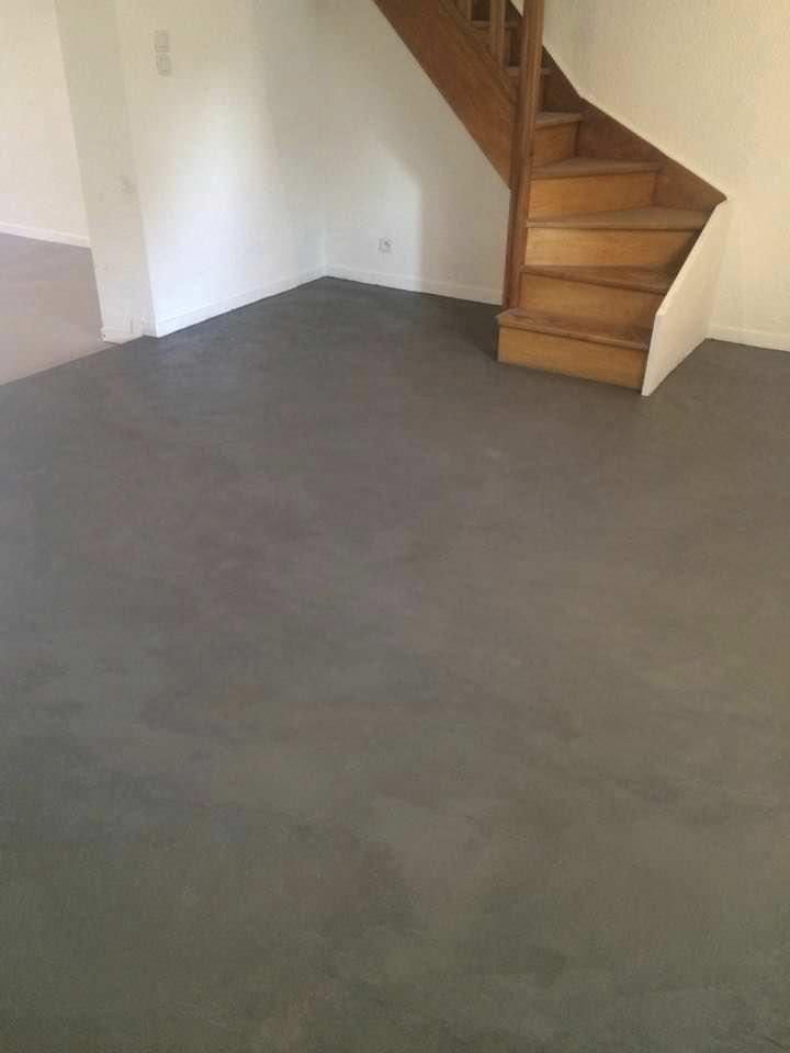 enlucido decorativo de interior de suelo a base de cemento rouviere - Suelo Cemento Pulido