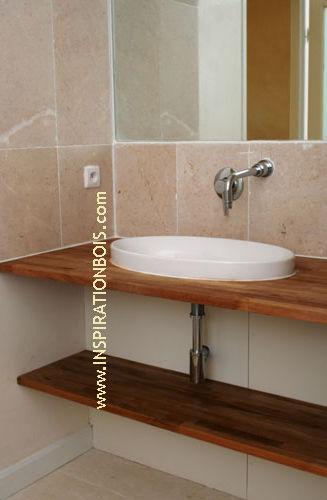 encimera de lavabo de madera inspiration bois