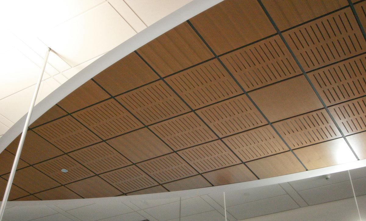 falso techo de madera tipo panel acstico aluratone